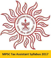 MPSC Tax Assistant Syllabus 2017