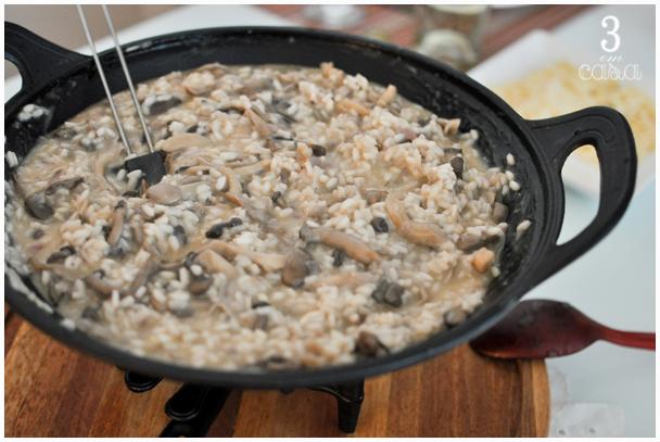 risoto cogumelos queijo passo a passo