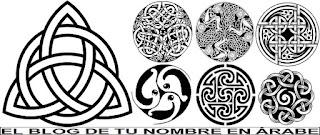 """Simbolos celtas """"traqueta"""" en blanco y negro"""