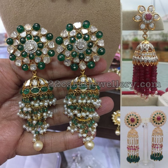 Beads Tassels Earrings by Manjula Jewels