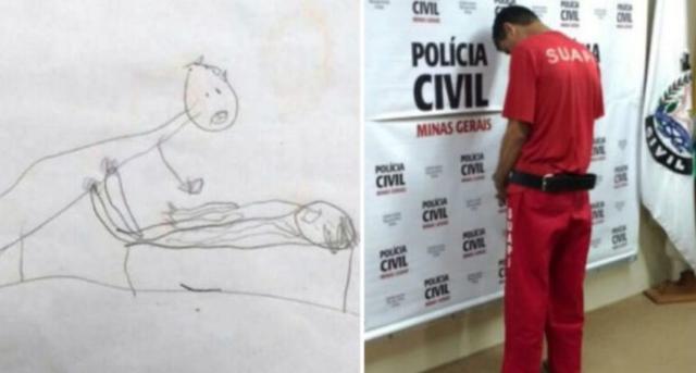 Pais descobrem que a filha de 5 anos era abusada ao verem seus desenhos