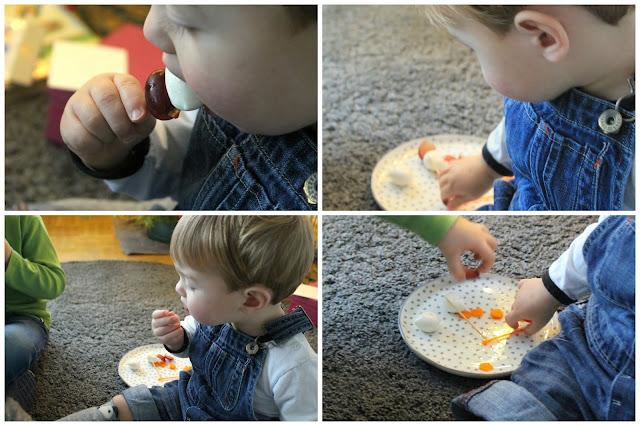Pinguin-Spieße Kinder Essen Winterideen Jules kleines Freudenhaus