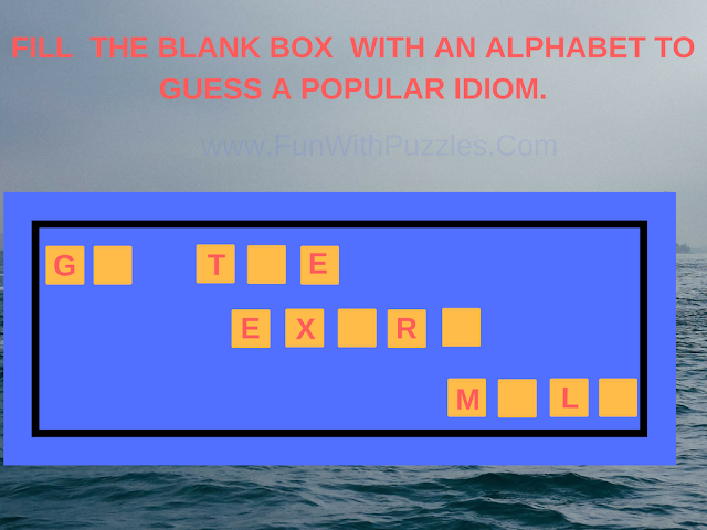 English Idioms Fill In Puzzle-3