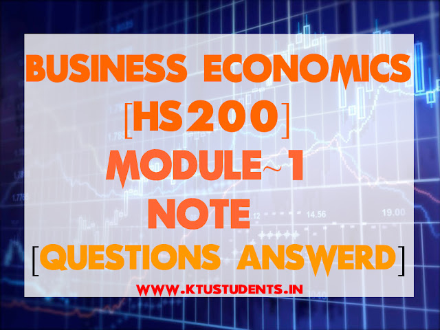 business economics notes hs200 model question paper solved