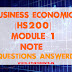 Business Economics [HS200] Note-Module 1