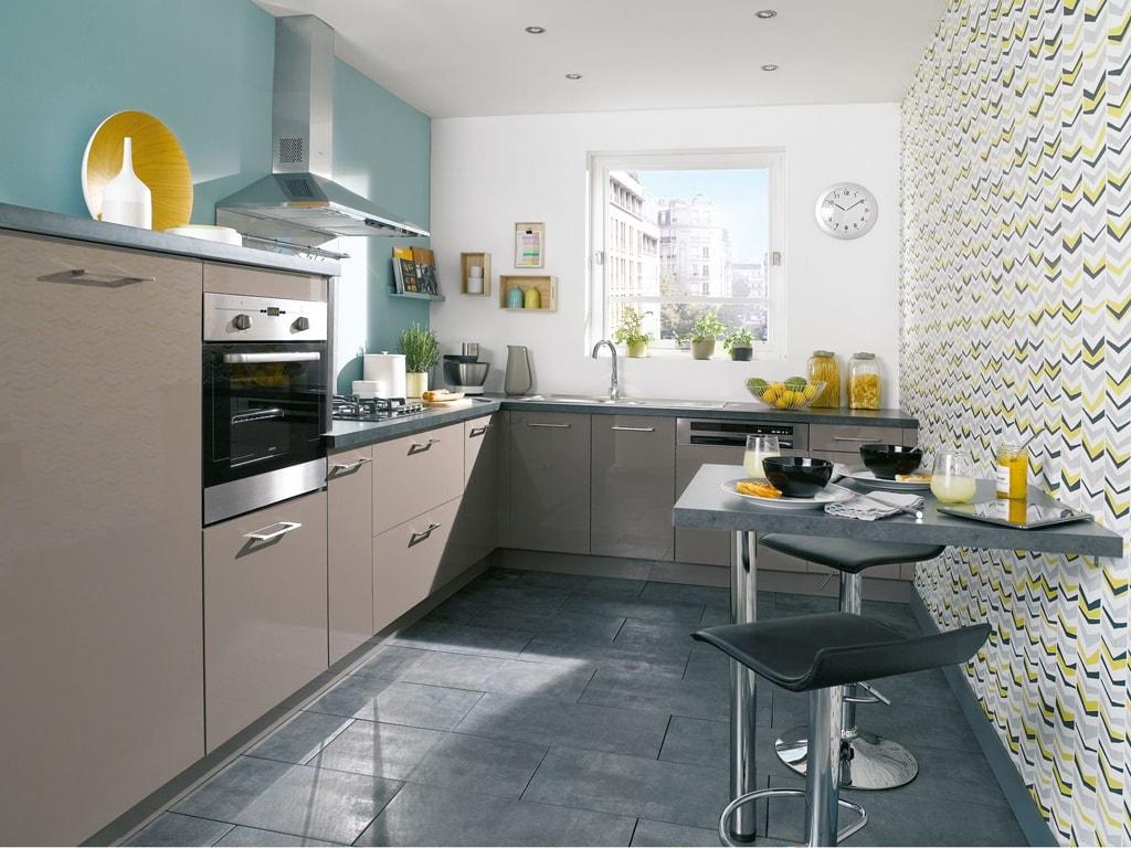 C mo planificar un lugar para comer en una cocina peque a cocinas con estilo - Tapisserie pour cuisine ...