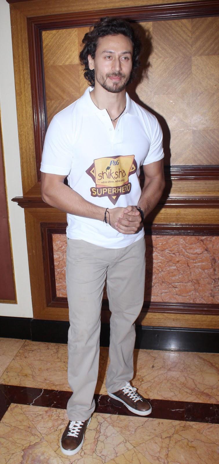 Tiger Shroff Promotes Campaign Shiksha Superheroes Event