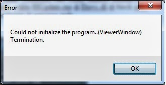 Could not initialize the program..(ViewerWindow) Termination