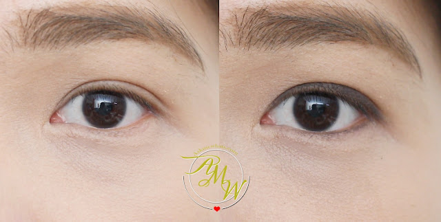 before and after photo of Estee Lauder Double Wear Infinite Women's Waterproof Eyeliner Review