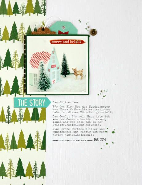 Das Glitterhaus | Scrapbooking Layout | Mein kreatives Jahr 2015