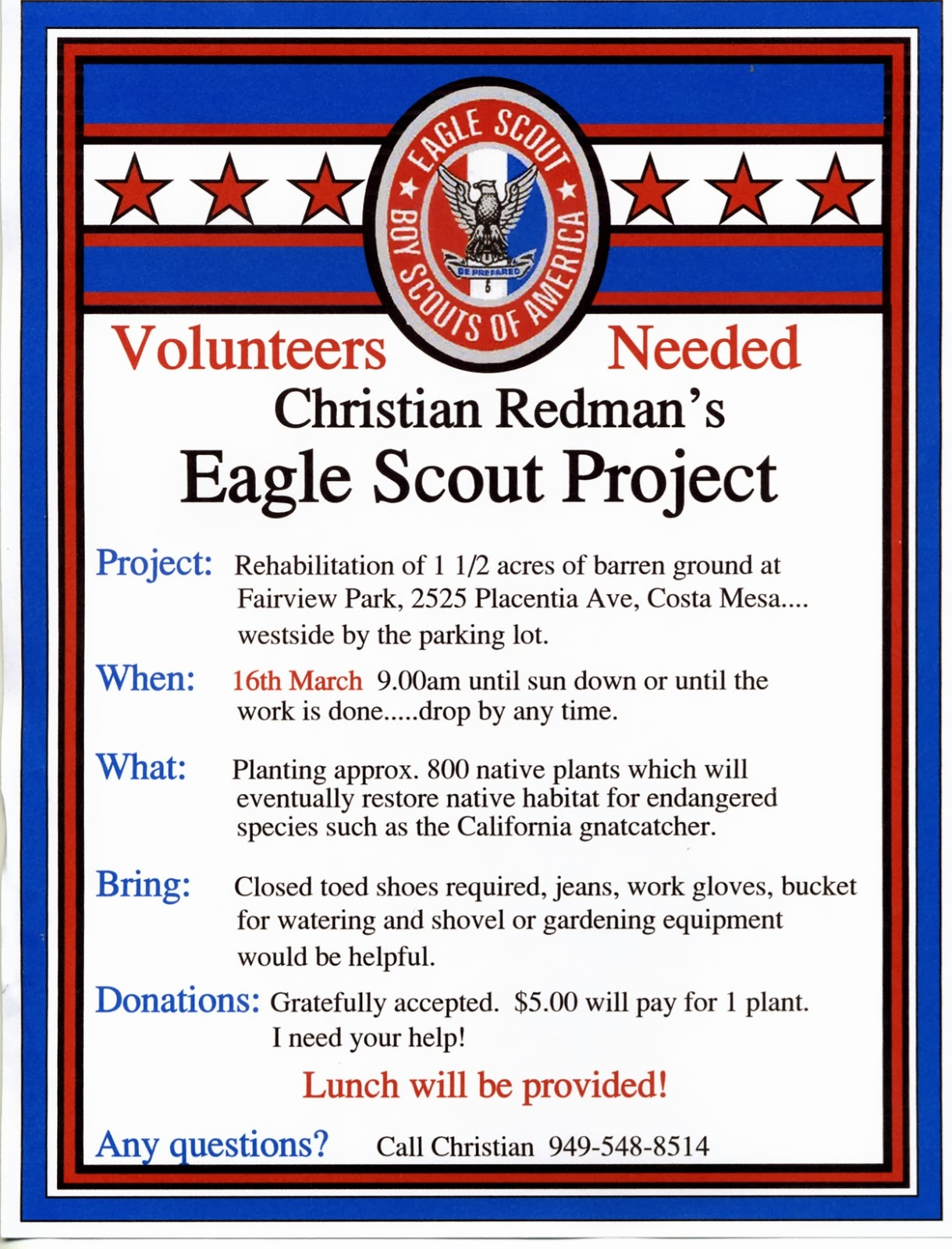 C.RedmanProjectFlyer012 Eagle Scout Project Donation Letter Template on court honor, congratulation cards, court honor invitation, recommendation letter, ceremony invitation, emblem printable, court honor program, project plaque, event program,