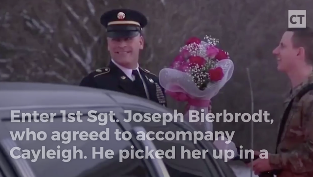 Girl Whose Dad Died in Military Training Finds Man-in-Uniform and Limo Waiting to Take Her to Father-Daughter Dance