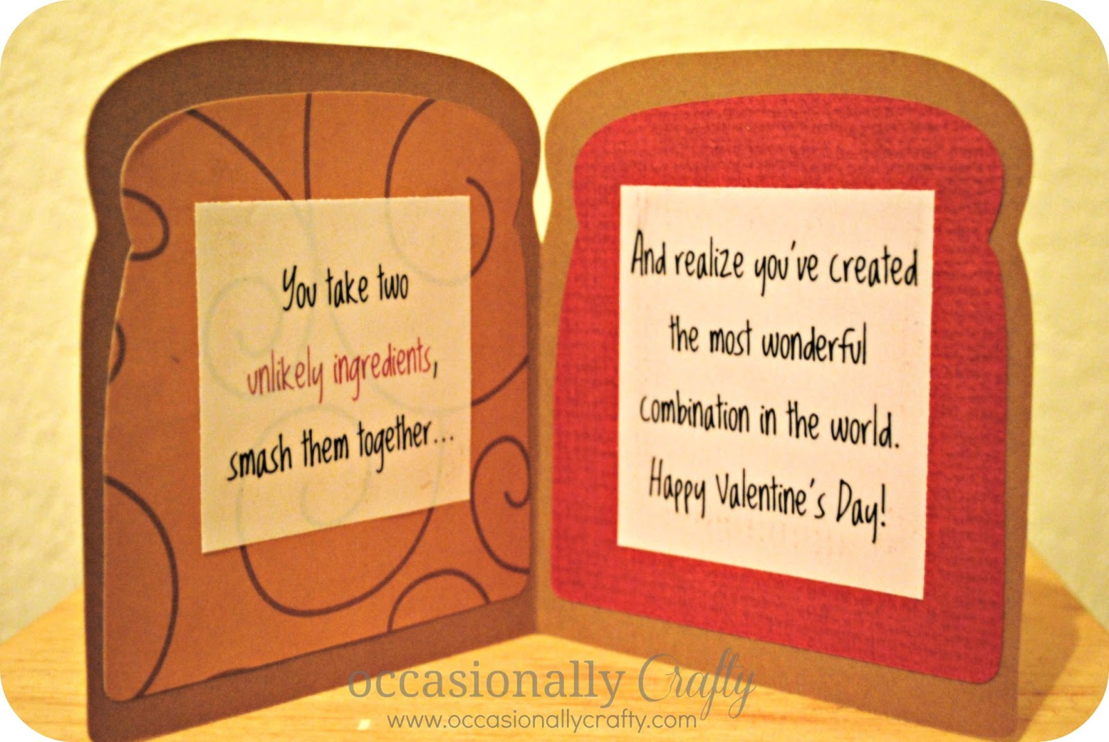 Happy Valentines Day A Card For My Husband Occasionally Crafty