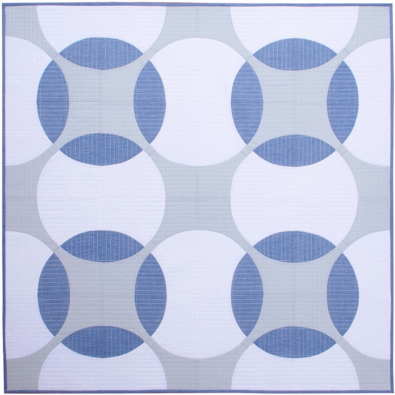 Modern Geometric Baby and Lap Quilt | Flowering Snowball Quilt | © Red Pepper Quilts 2017