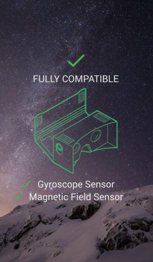 cf57231d7 اذا كان جهازك يدعم ستكون الرسالة Fully Compatible اي ان الجهاز متوافق تماما  مع نظارات الواقع الافتراضي. رابط تحميل تطبيق EZE VR