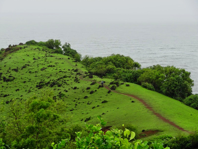 Walking trail and greenary around the Chappora Fort - Near Mapuza in Goa.