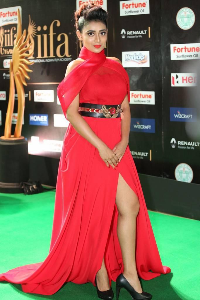 Tamil Actress Apoorva At IIFA Awards 2017 In Red Dress
