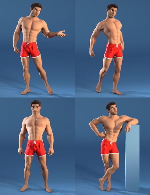 Capsces Tooned Poses for Guy 7