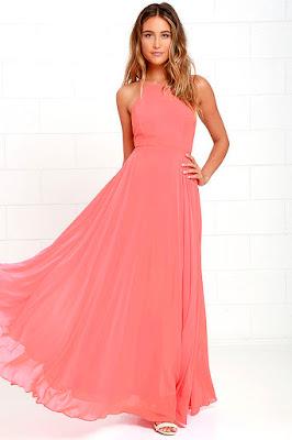 vestidos formales con escote en la espalda