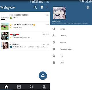BBM Mod Instagram Apk Terbaru 2016