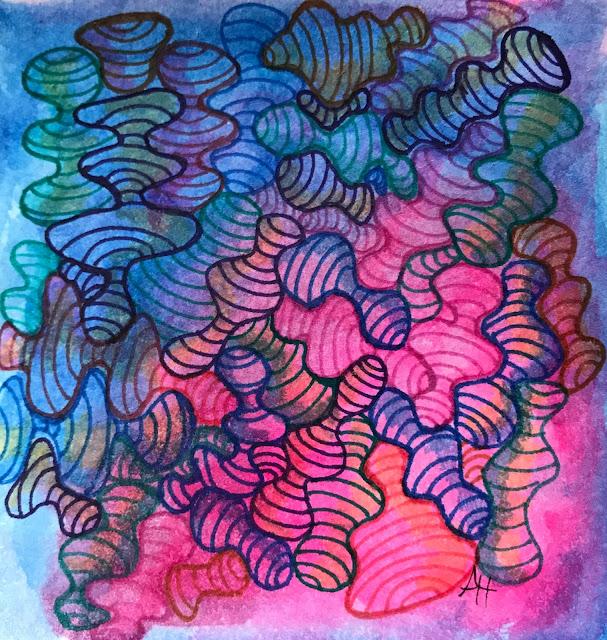 Hahnemühle YouTangle.art Tiles with Schimincke watercolors