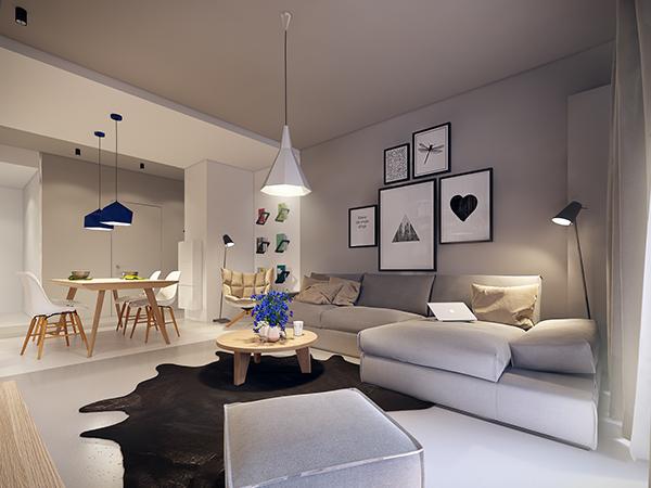 Simple and elegant apartment interior design ideas with