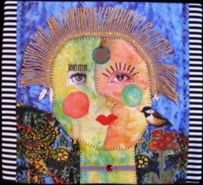 """The Psychic"" Art Quilt by Monica Curry"