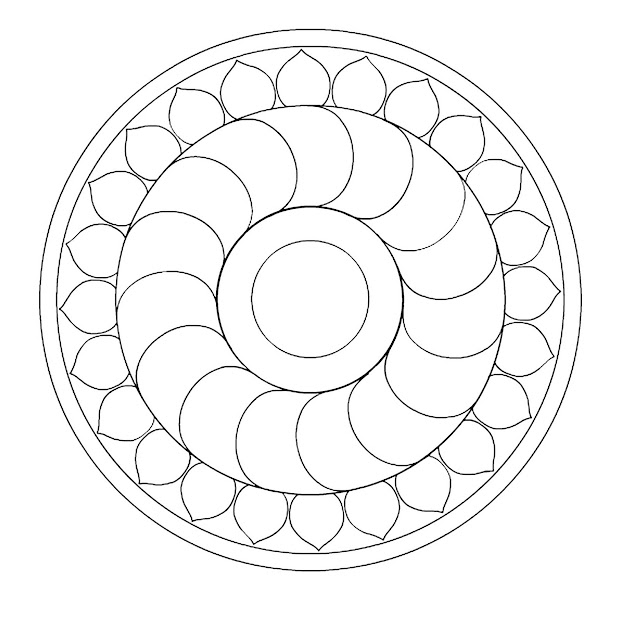 Simple Mandala Coloring Pages Printable Free Printable Mandalas