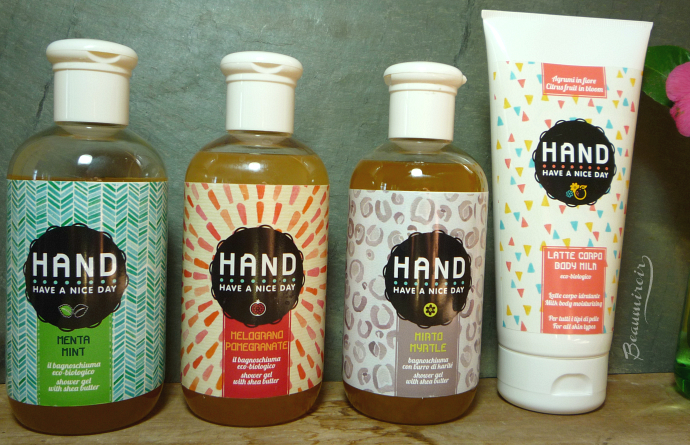 HAND shower gel body milk review Have A Nice Day