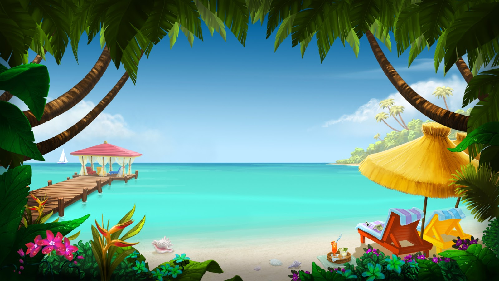 Hd Tropical Island Beach Paradise Wallpapers And Backgrounds: Justin's Art
