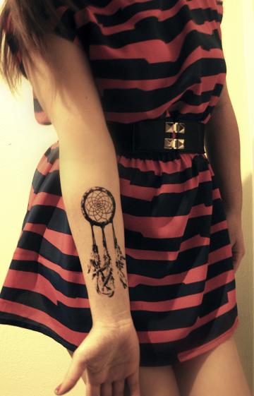 Little Petite: Dreamcatcher tattoo