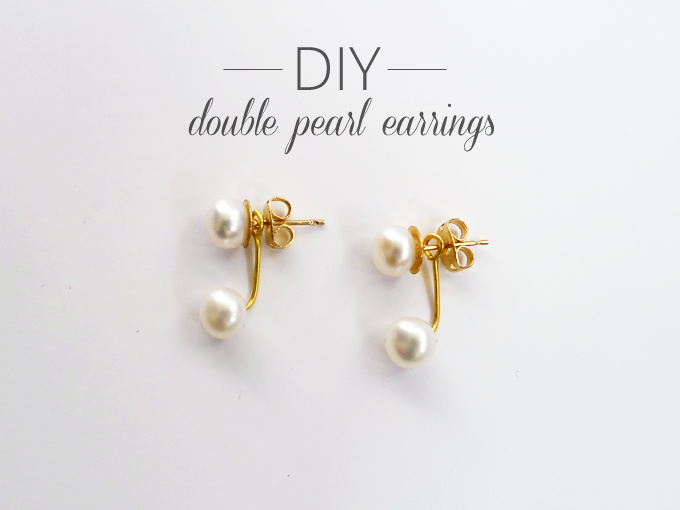Thanks, I Made It : DIY Double Pearl Earrings