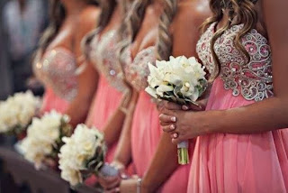 pink rhinestone bridesmaid dresses