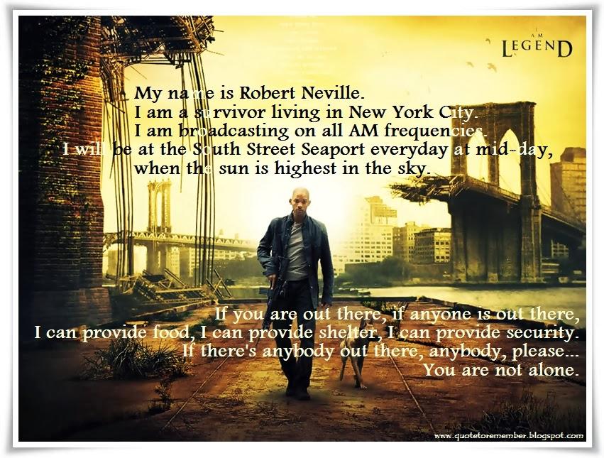 A Legend To Commemorate: #IamLegend #WillSmith