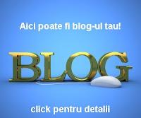 Aici poate fi blog-ul tau! Editia I