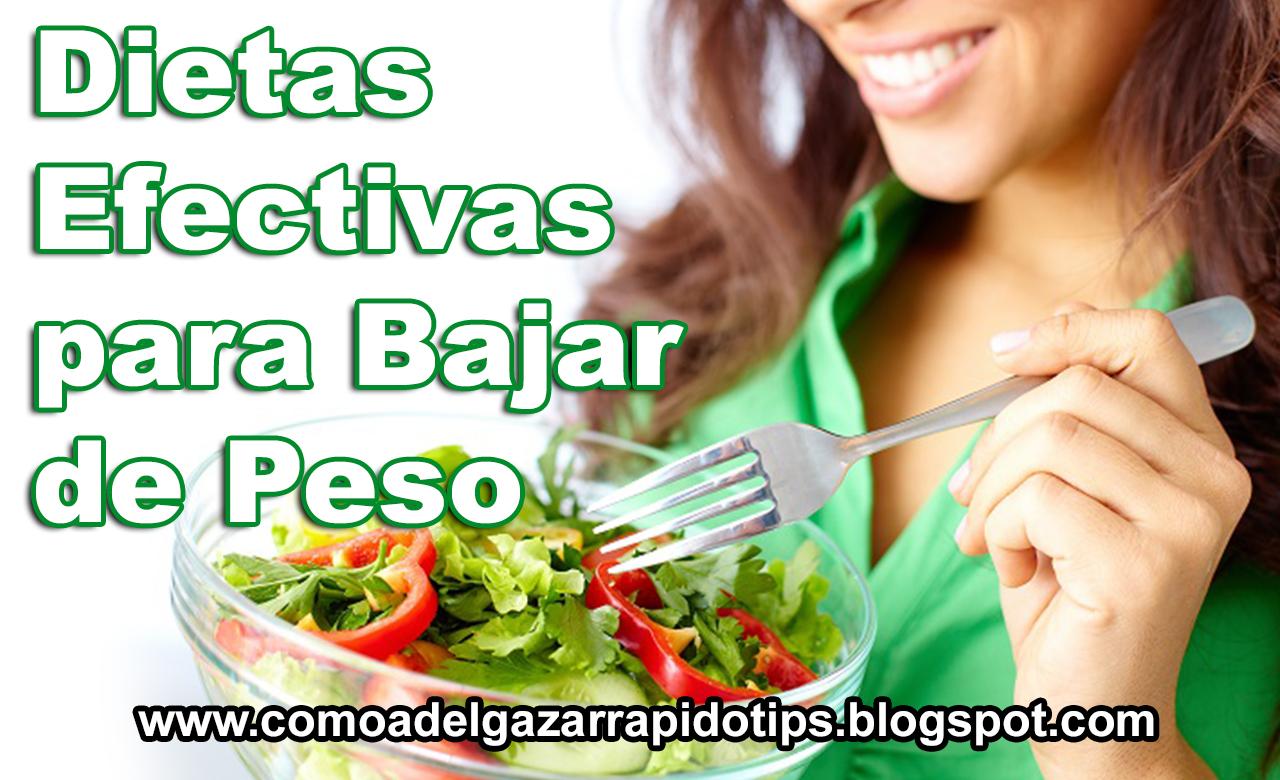 Dietas efectivas adelgazar rapido