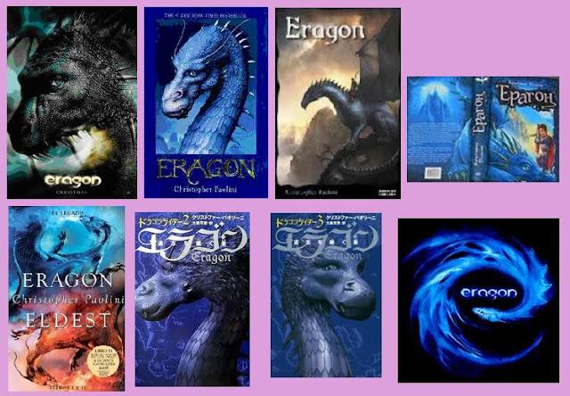 Portadas de la novela de fantasía juvenil Eragon, de Christopher Paolini