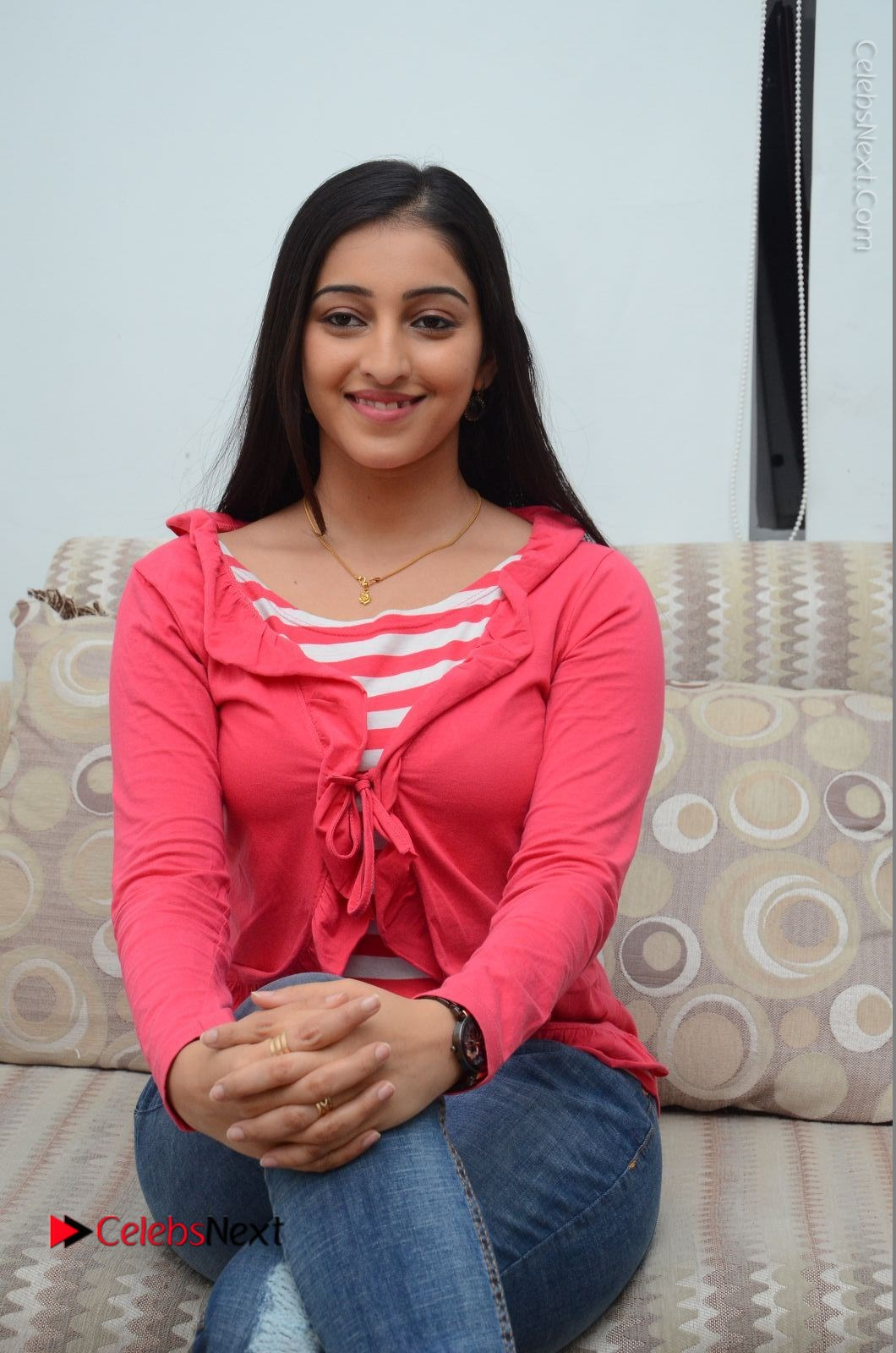 Mouryani Latest Photos in Blue Denim Jeans at Janaki Ramudu Movie Interview