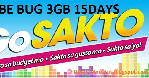 GLOBE BUG 3GB 15DAYS 2018 | Pinoytut