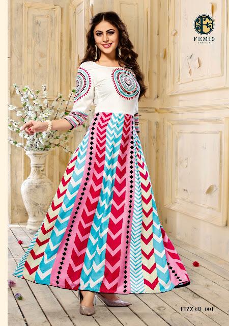 Femi9 Fizzah Anarkali Party wear kurtis Manufacture Surat