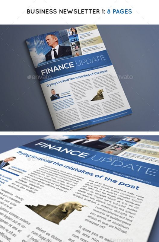90+ Best Printable Newsletter Templates InDesign INDD  PDF - business newsletter
