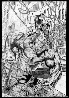 Alex+Cal+spiderman vs rhino 1
