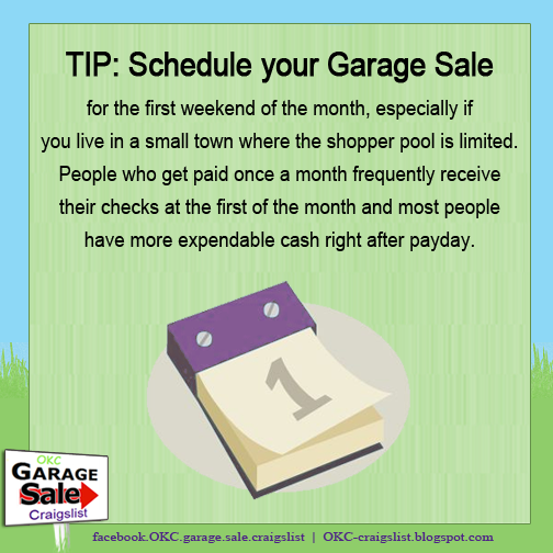 TIP: When to Schedule Your Garage Sale
