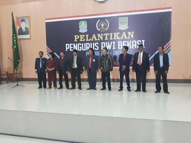 Pengurus PWI Bekasi Resmi Dilantik