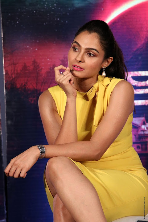 andrea jeremiah at aval movie trailer launch