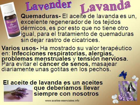 ACEITE ESENCIAL DE LAVANDA - USOS