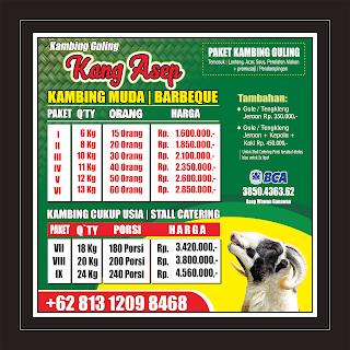 harga kambing guling kang asep juni 2019 di lembang
