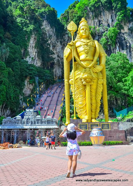Lady in Batu Caves