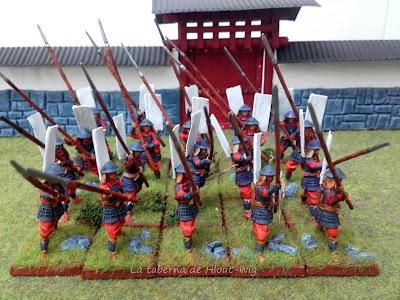 Yari ashigaru de frente