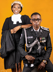 Pre-Wedding Pic Of A Young Police Officer & Lawyer Fiancee